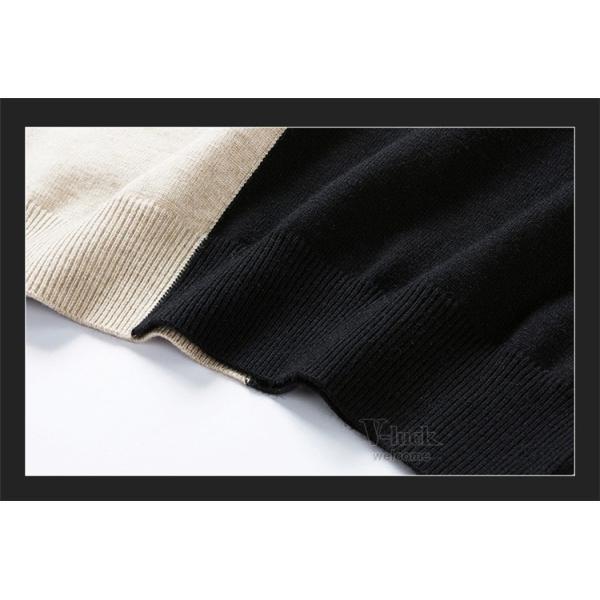 メンズニット セーター クルーネック 切り替え 長袖セーター ケーブル ニットセーター お兄系 秋物 冬物 春物|otasukemann|10
