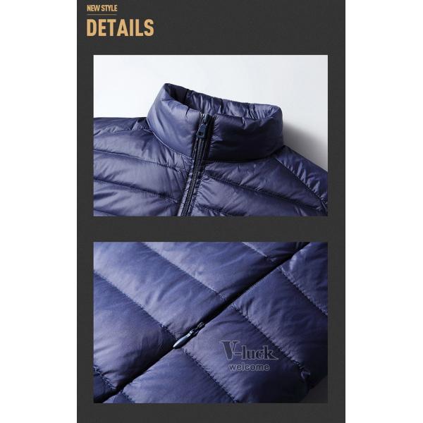 ダウンベスト メンズ ベスト 暖かいベスト キルティング ジャケット メンズベスト 防寒 おしゃれ アウター|otasukemann|09