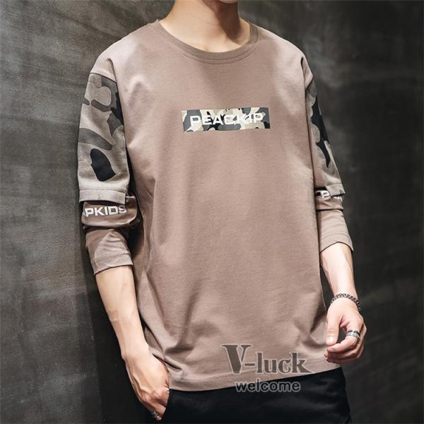 Tシャツ メンズ クルーネック 長袖 ロングTシャツ カジュアル ロンT トップス 長袖Tシャツ 部屋着 春秋 送料無料|otasukemann|15