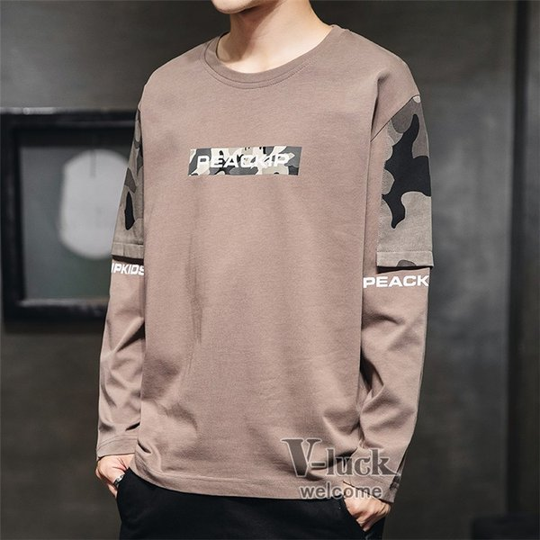 Tシャツ メンズ クルーネック 長袖 ロングTシャツ カジュアル ロンT トップス 長袖Tシャツ 部屋着 春秋 送料無料|otasukemann|17