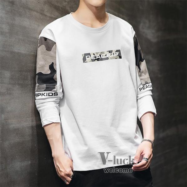 Tシャツ メンズ クルーネック 長袖 ロングTシャツ カジュアル ロンT トップス 長袖Tシャツ 部屋着 春秋 送料無料|otasukemann|07