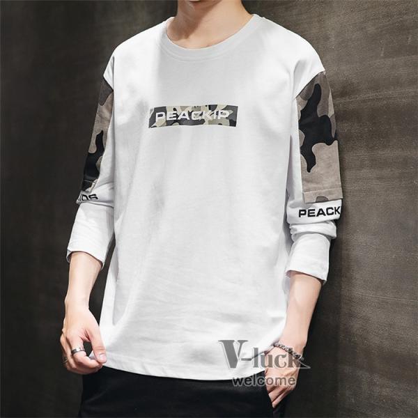 Tシャツ メンズ クルーネック 長袖 ロングTシャツ カジュアル ロンT トップス 長袖Tシャツ 部屋着 春秋 送料無料|otasukemann|09