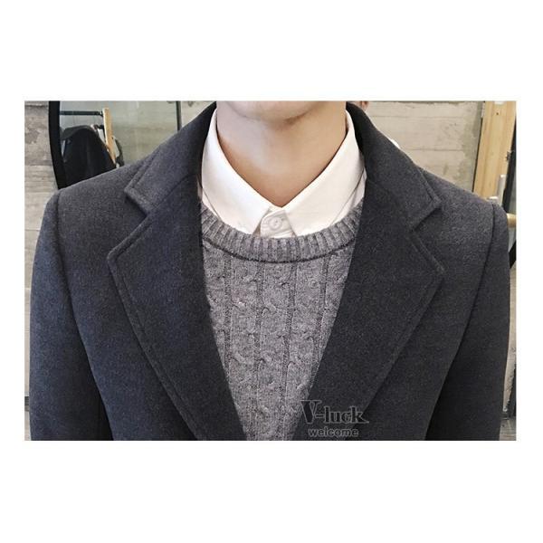 チェスターコート メンズ トレンチコート ビジネスジャケット 中綿ジャケット メンズコート 防寒 秋冬|otasukemann|19