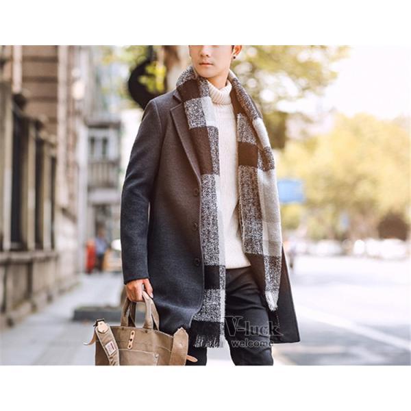 チェスターコート メンズ トレンチコート ビジネスジャケット 中綿ジャケット メンズコート 防寒 秋冬|otasukemann|07