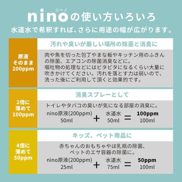 セール20%OFF 除菌スプレー 赤ちゃん ノロ 次亜塩素酸水 300ml nino ボトル 詰め替えパウチセット 宅配便A|otbj|16