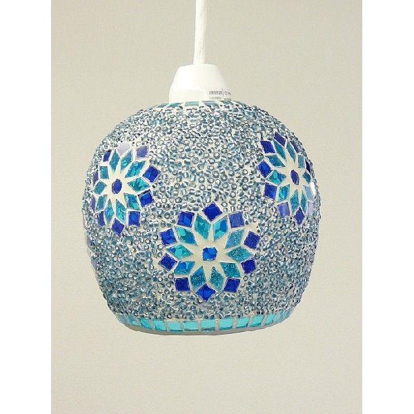RoomClip商品情報 - モザイクガラス製 ペンダントライト ミフリマ ブルー イシグロ 20141