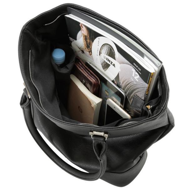 トートバッグ メンズ ファスナー付き 縦型 無地 ビジネス 通学 男性 シンプル オシャレ ドリンクホルダー付き おしゃれ トートバック Otias オティアス|otias|10