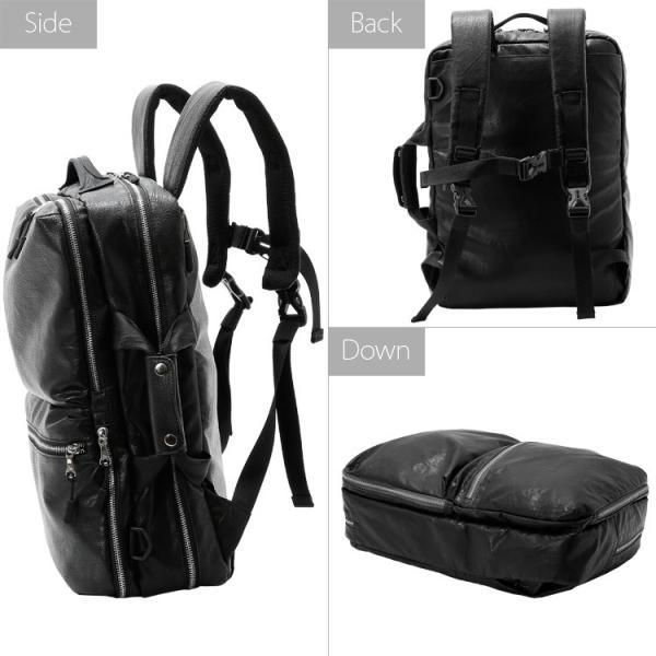 ビジネスバッグ 3way 軽量 大容量 リュックサック ショルダーバッグ メンズ 合成皮革 Biz3way Otias オティアス|otias|04