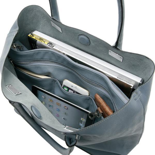 トートバッグ メンズ 大きめ A4収納 シンプル 大容量 Bizトート ビジネスバッグ バッグインバッグ付き Otias オティアス|otias|11
