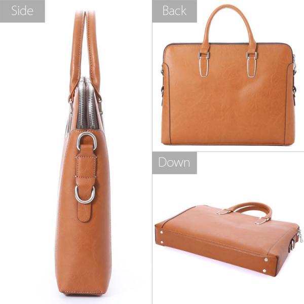 ビジネスバッグ ブリーフケース ダブル天ファスナー おしゃれ iPad収納 A4 男性 メンズ かばん 鞄 プレゼント Otias オティアス|otias|04