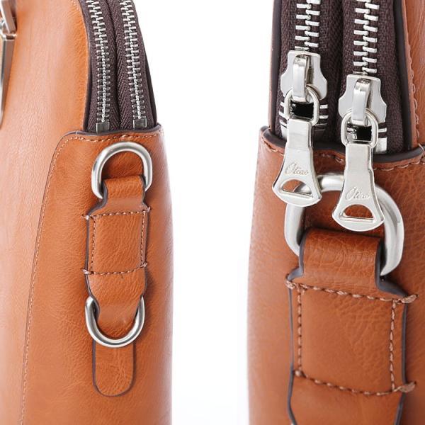ビジネスバッグ ブリーフケース ダブル天ファスナー おしゃれ iPad収納 A4 男性 メンズ かばん 鞄 プレゼント Otias オティアス|otias|07