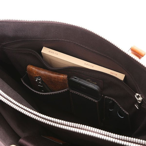 ビジネスバッグ ブリーフケース ダブル天ファスナー おしゃれ iPad収納 A4 男性 メンズ かばん 鞄 プレゼント Otias オティアス|otias|08