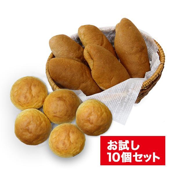 糖質オフ パン 糖質制限(強炭酸水仕込み)九州産小麦ふすま使用 天然素材 低糖質 コッペパン&大豆粉パン(10個セット)ダイエット食品
