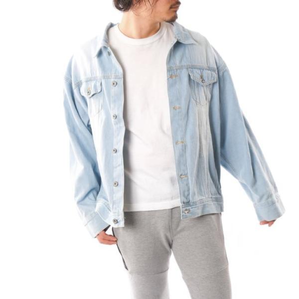 ビッグGジャン メンズ ビッグシルエット オーバーサイズ ブリーチ トラッカージャケット デニムジャケット ジージャン 韓国系ファッション ユニセックス ペア|otokazi|13