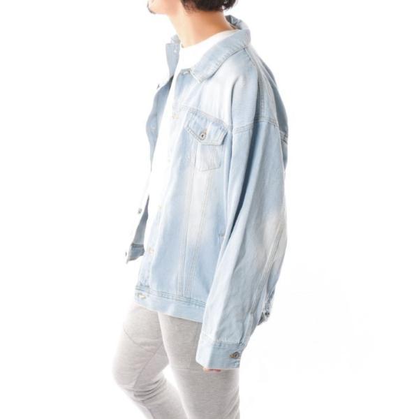 ビッグGジャン メンズ ビッグシルエット オーバーサイズ ブリーチ トラッカージャケット デニムジャケット ジージャン 韓国系ファッション ユニセックス ペア|otokazi|14