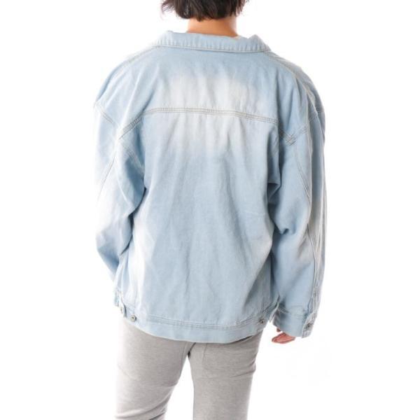 ビッグGジャン メンズ ビッグシルエット オーバーサイズ ブリーチ トラッカージャケット デニムジャケット ジージャン 韓国系ファッション ユニセックス ペア|otokazi|15