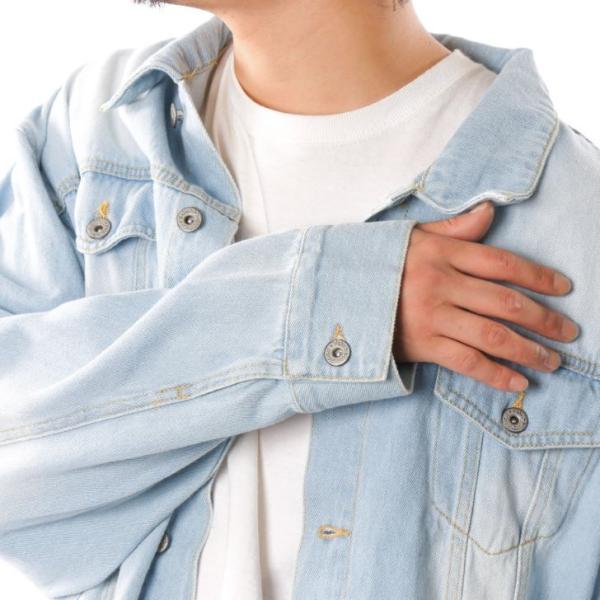 ビッグGジャン メンズ ビッグシルエット オーバーサイズ ブリーチ トラッカージャケット デニムジャケット ジージャン 韓国系ファッション ユニセックス ペア|otokazi|17