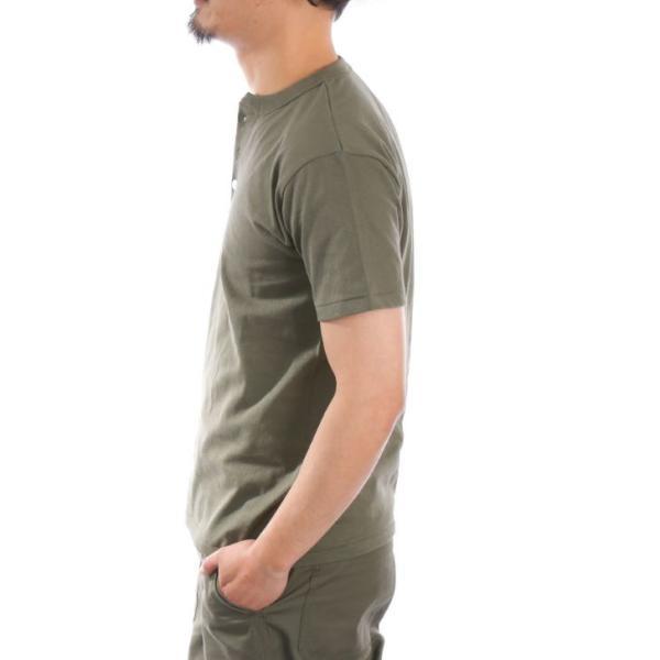 ヘンリーネックTシャツ メンズ 半袖 厚手 6.2オンス 無地 白 黒 グレー 紺 カーキ 春 夏 半袖Tシャツ カットソー お洒落 ユニセックス レディース対応|otokazi|18