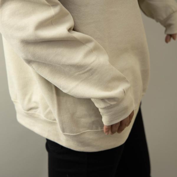 JERZEEZ トレーナー メンズ 裏起毛 クルーネック ゆったり ビッグシルエット 無地 黒 グレー 白 ネイビー 赤 秋 冬 スウェットシャツ ペア ユニセックス|otokazi|13