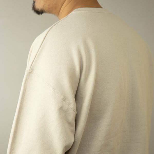 JERZEEZ トレーナー メンズ 裏起毛 クルーネック ゆったり ビッグシルエット 無地 黒 グレー 白 ネイビー 赤 秋 冬 スウェットシャツ ペア ユニセックス|otokazi|15
