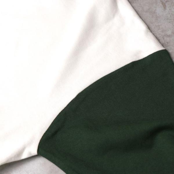 ベースボールTシャツ メンズ 7分袖 クルーネック ラグランスリーブ 無地 白 黒 グレー 紺 ワイン 緑 送料無料 カットソー お洒落 ユニセックス 男女兼用 otokazi 14