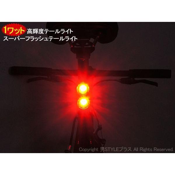 自転車用テールライト 1ワット高輝度LED搭載 RL-321R 自転車パーツ|otoko-style|03