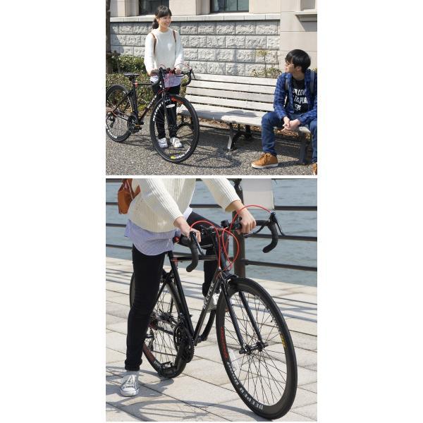【特典付き】 ロードバイク 自転車 本体 700C 初心者 エントリーモデル 700×28C シマノ21段変速 軽量 DEEPER DE-3048 otoko-style 12