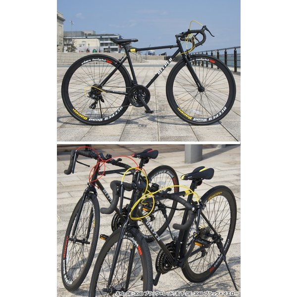 【特典付き】 ロードバイク 自転車 本体 700C 初心者 エントリーモデル 700×28C シマノ21段変速 軽量 DEEPER DE-3048 otoko-style 14