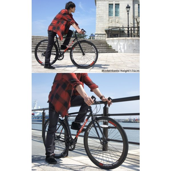 【特典付き】 クロスバイク 700c 自転車 初心者 シマノ製7段変速 ブルホーンハンドル 前輪クイックレリーズ DEEPER DE-5048|otoko-style|18