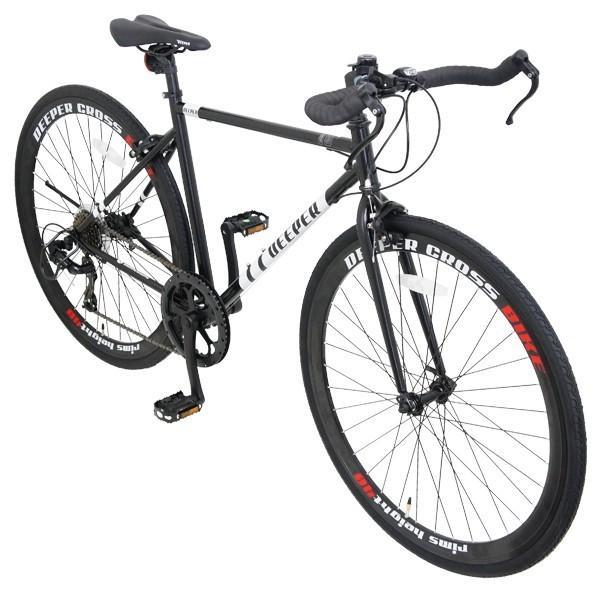 【特典付き】 クロスバイク 700c 自転車 初心者 シマノ製7段変速 ブルホーンハンドル 前輪クイックレリーズ DEEPER DE-5048|otoko-style|09