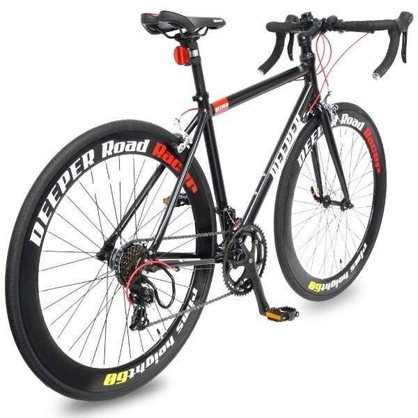 ロードバイク 初心者 自転車 700C 軽量 シマノ14段ギア アルミフレーム  通勤 通学 DEEPER(ディーパー) DE-70シリーズ ライト付き 480/530mm|otoko-style|08