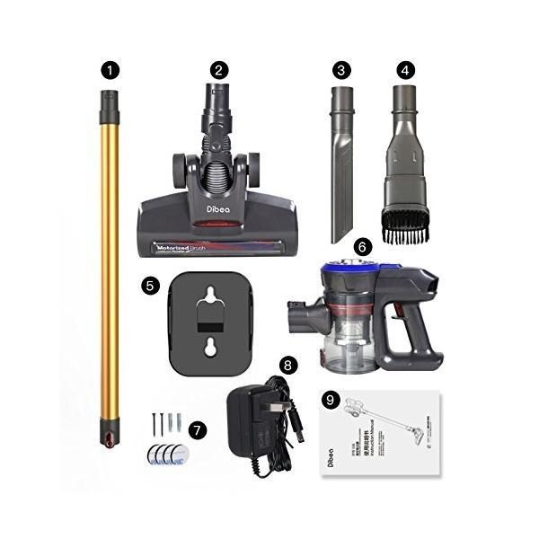 【ポイントアップ 5のつく日】コードレス掃除機 サイクロン 掃除機 ハンディクリーナー 充電式 スティック型 2in1 軽量 1年保証 Dibea D18|otoko-style|07