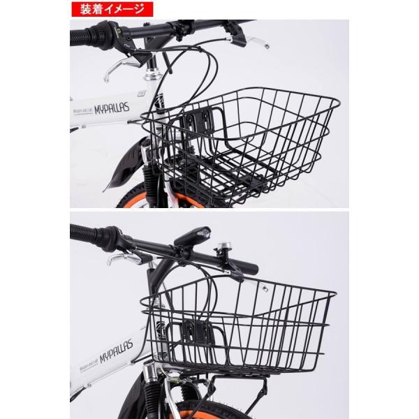 自転車かご ATB用バスケット・フロントキャリアセット MY-BK01|otoko-style|04