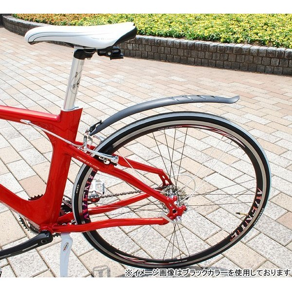 【5のつく日は当店全品ポイント3倍】SUNNYWHEEL クロスバイク用泥除け SW-670FR ホワイト フェンダー|otoko-style|03