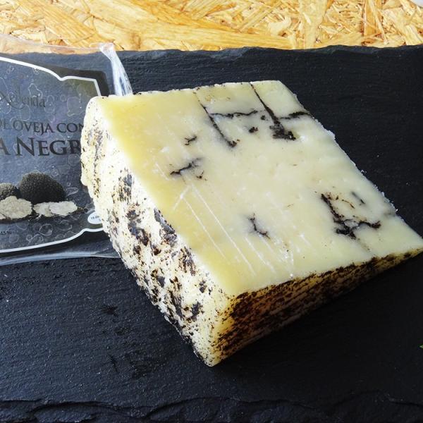 スペイン産羊乳チーズ トルーファ・ネグラ(トリュフ)Queso de Oveja con Trufa Negra 毎週水・金曜日発送