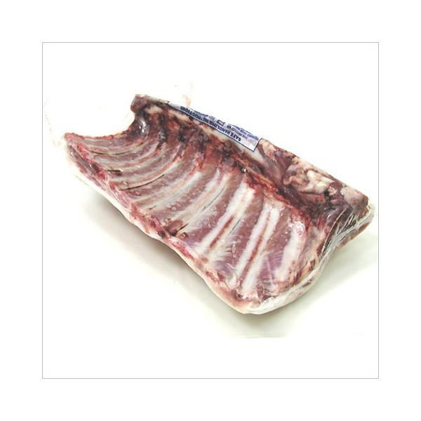 ラム肉 放牧  仔羊の背骨付き背肉 スタンダードラック 約1.2-1.4Kg(冷凍)不定貫1Kg当たり3,780円(税込)オーストラリア産 グラスフェッド 子羊
