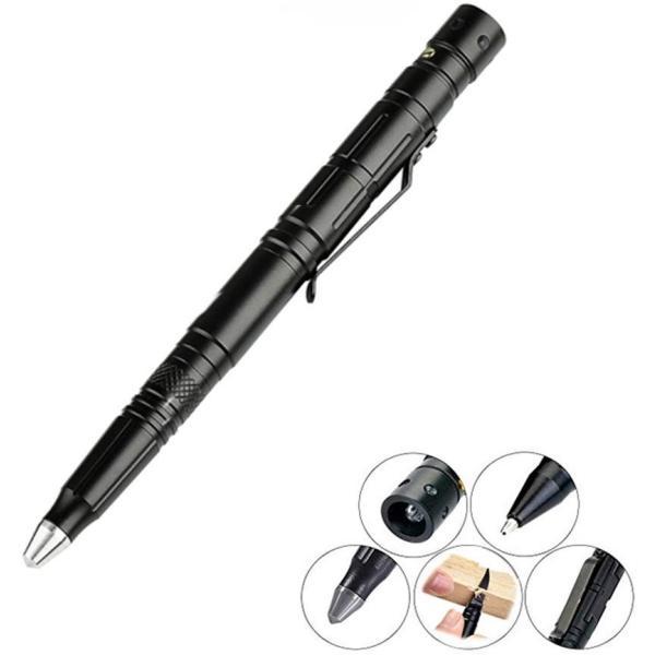 高品質4in1タクティカルペンLEDライト付き超小型懐中電灯多機能ボールペンガラスブレイカー