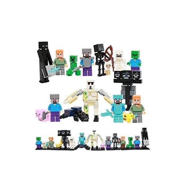 レゴ互換マインクラフト風ミニフィグ16体セットマイクラ風お得大人気子供おもちゃ