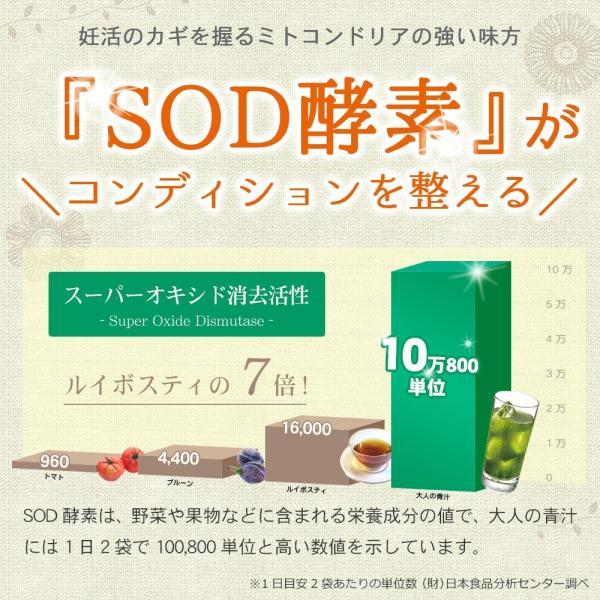 ミトコンドリア サプリ 妊活 サプリメント  葉酸 ビタミンD SOD 冷え エイジングケア 卵子の質 酵素 温活 大人の青汁 60袋|otonavito|07