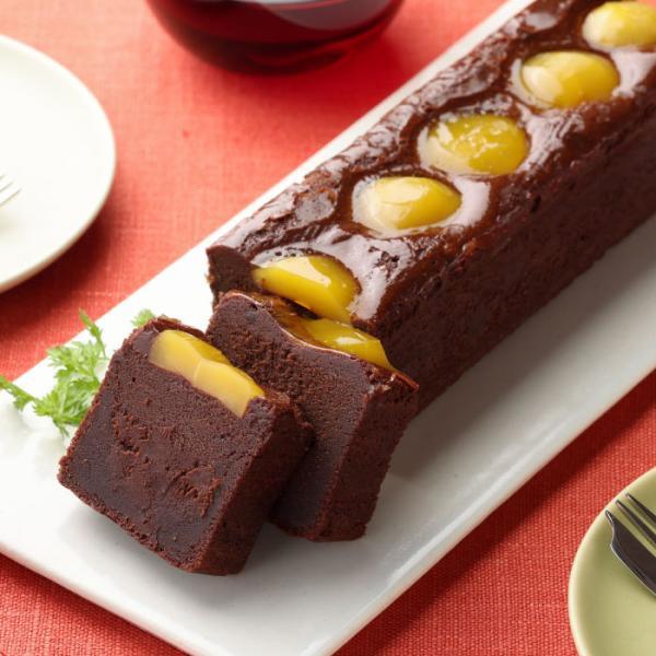 ガトーショコラ マローニ 送料無料 チョコレートケーキ スイーツ レザンジュ栗 マロン 甘露煮