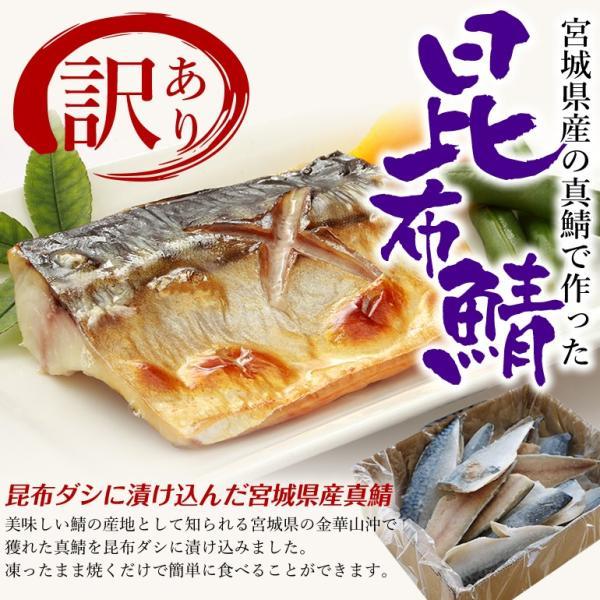 訳あり 金華育ちの昆布鯖(1kg/半身14枚前後)冷凍 ◯|otr-ishinomaki