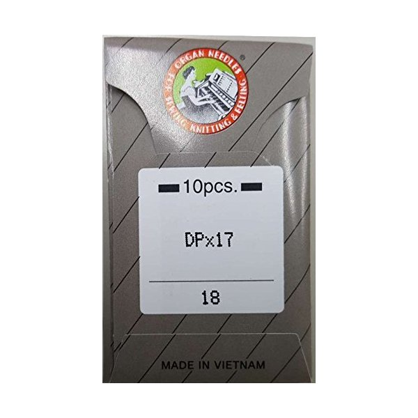 オルガン針工業用/職業用本縫厚物用針DP×17(10本入)(#18)