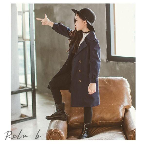 親子服/子供服 春秋着 韓国風 女の子 おしゃれ 長袖 復古風 キッズ レジャー アウター 可愛いジャケット シンプル且エレガント コート ファッション感 トップス|otto-shop|14