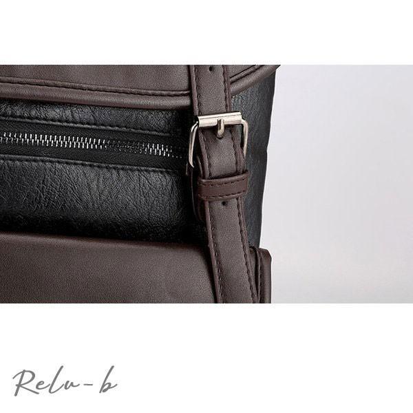 スクエアリュック メンズ レザー リュック レディース ビジネスリュック 防水 PC収納 革 通勤用 多機能 軽量 バッグ 撥水 旅行 通勤 通学バッグ 男女兼用 大容量 otto-shop 13