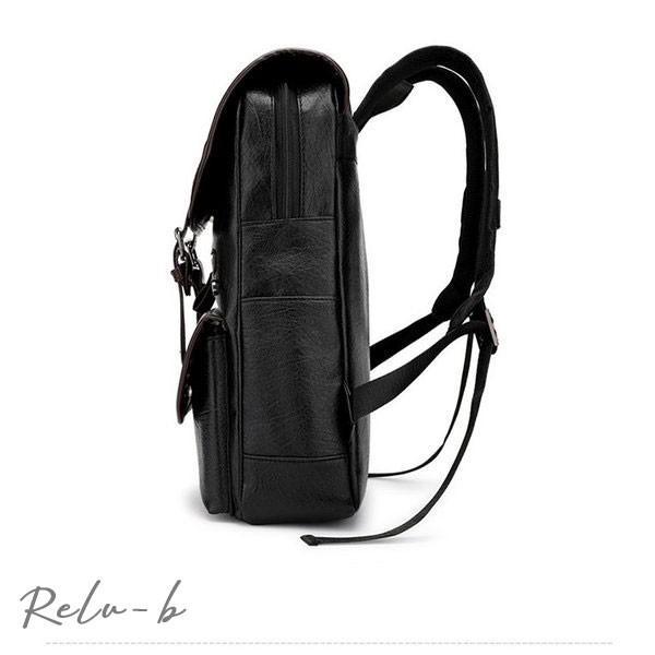 スクエアリュック メンズ レザー リュック レディース ビジネスリュック 防水 PC収納 革 通勤用 多機能 軽量 バッグ 撥水 旅行 通勤 通学バッグ 男女兼用 大容量 otto-shop 09