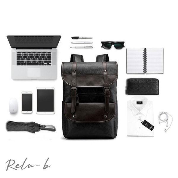 スクエアリュック メンズ レザー リュック レディース ビジネスリュック 防水 PC収納 革 通勤用 多機能 軽量 バッグ 撥水 旅行 通勤 通学バッグ 男女兼用 大容量 otto-shop 10