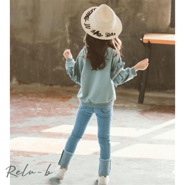 子供服 セットアップ 女の子 長袖 春秋 秋着 上下セット 韓国子供服 キッズ ジュニア Tシャツ デニムパンツ 長ズボン 可愛い おしゃれ 小学生 通学着 新品|otto-shop|13