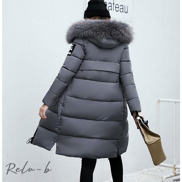 中綿ダウンコート レディース 40代 ロング丈 軽い 2019 秋冬 アウター 中綿コート 中綿ジャケット ダウン風コート フード付き 防寒 暖かい 大きいサイズ スリム|otto-shop|15