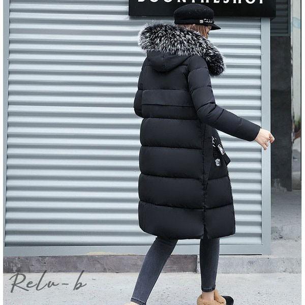 中綿ダウンコート レディース 40代 ロング丈 軽い 2019 秋冬 アウター 中綿コート 中綿ジャケット ダウン風コート フード付き 防寒 暖かい 大きいサイズ スリム|otto-shop|18