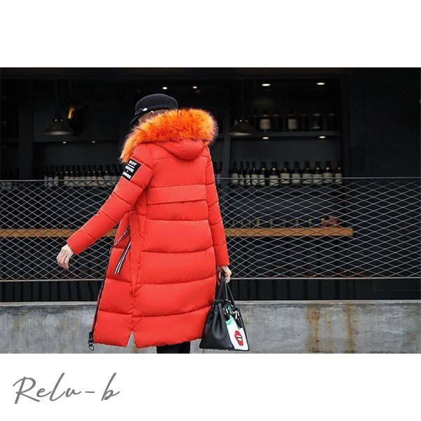 中綿ダウンコート レディース 40代 ロング丈 軽い 2019 秋冬 アウター 中綿コート 中綿ジャケット ダウン風コート フード付き 防寒 暖かい 大きいサイズ スリム|otto-shop|20